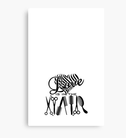 Love is in the Hair VRS2 Canvas Print