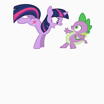 Spike offends Twilight by m33rkat