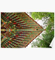 Guinsa Temple Patterns, South Korea Poster