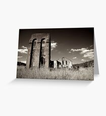 Blast Furnace ruins back view Greeting Card