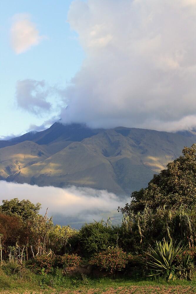 Cloud Covered Mount Imbabura by rhamm