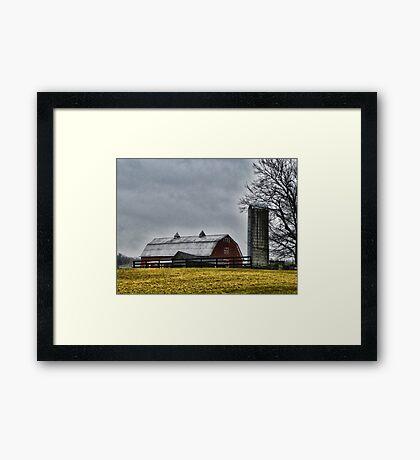 Rainy Day Farm Framed Print