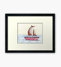 Sail Away with me Framed Print
