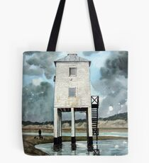"""The 39 Steps"" - The Beach Lighthouse, Burnham-on-Sea, Somerset Tote Bag"