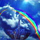 Rainbow city by Annabellerockz