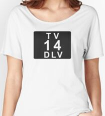 TV 14 DLV (United States) black Women's Relaxed Fit T-Shirt