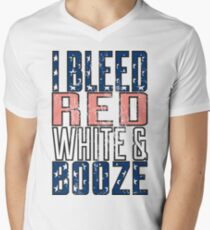 I Bleed Red White And Booze T-Shirt