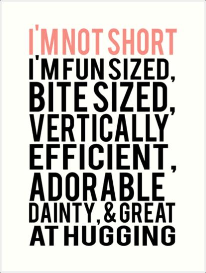 I'm Not Short Im Fun Sized Bite Sized Vertically Efficient ...