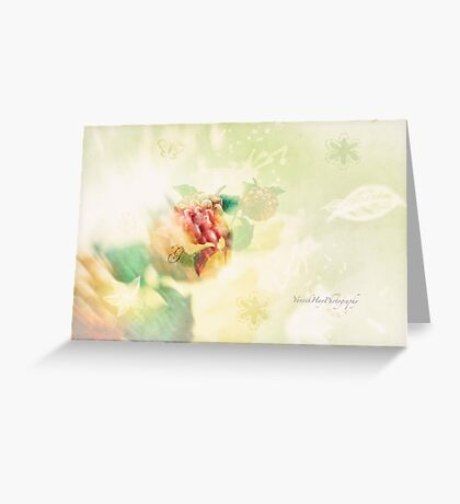 Spring Flowers Double Exposure Greeting Card