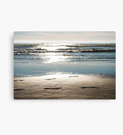 Footprints Horizontal Canvas Print