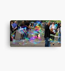 Bubbles in the park Canvas Print