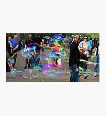 Bubbles in the park Photographic Print