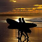 Surfers at Sunset by Stuart Robertson Reynolds
