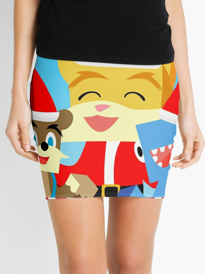 Stampylonghead Christmas.Minecraft Youtuber Stampy Cat Iballisticsquid L For Lee X Christmas Holiday Winter Limited Edition Mini Skirt