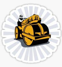Road Roller Compactor Sticker