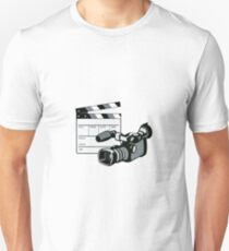 Video Camera Movie Clapboard Retro Unisex T-Shirt