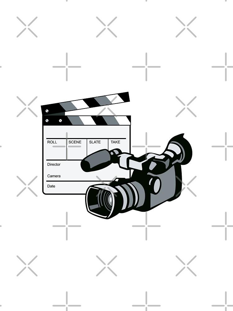 Video Camera Movie Clapboard Retro by patrimonio