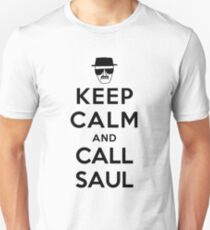Keep Calm and Call Saul - black color Unisex T-Shirt