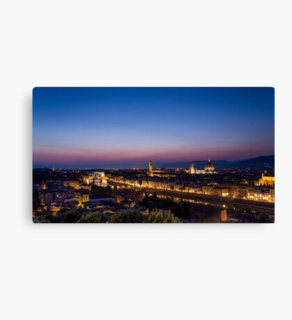 Florence by night Canvas Print