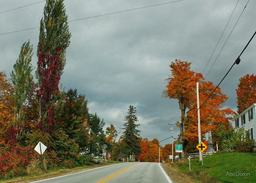 Road Through New Hampshire to Vermont by AnnDixon