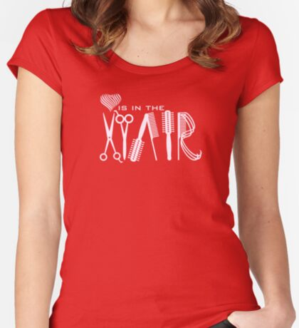 Love is in the Hair VRS2 Women's Fitted Scoop T-Shirt