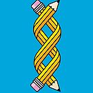 Creative Gene-ius (Yellow School Pencil) by Troy Sizer