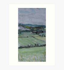Perthshire, looking towards Dunsinane Art Print