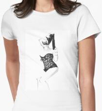 Pin Up - Burlesque  Womens Fitted T-Shirt