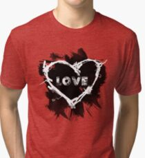 Love - Black Tri-blend T-Shirt