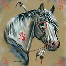 Indian Pony Digital Painting by WildestArt