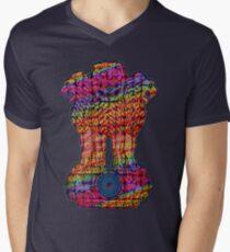 India emblem  hippie Men's V-Neck T-Shirt