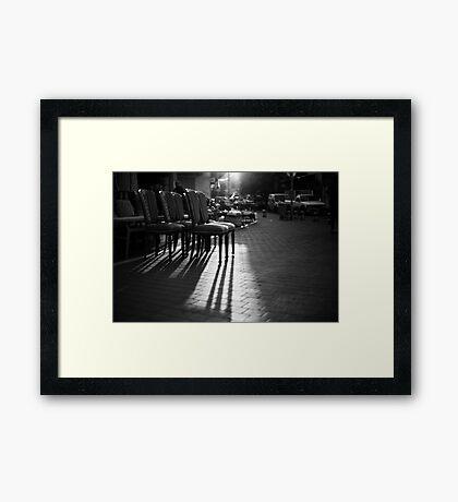 arranged shadows Framed Print