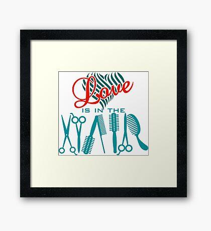 Love is in the Hair VRS2 Framed Print
