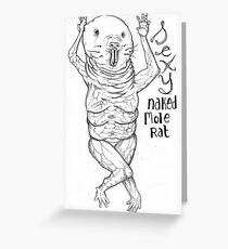 Sexy Naked Mole Rat Greeting Card