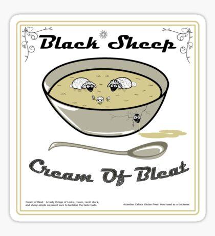 Black Sheep Cream Of Bleat Sticker