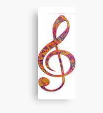 Psychedelic Music note 4 Metal Print