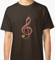 Psychedelic Music note 2 Classic T-Shirt