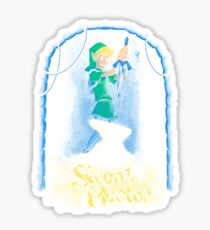 Sword of the master (redeux) Sticker