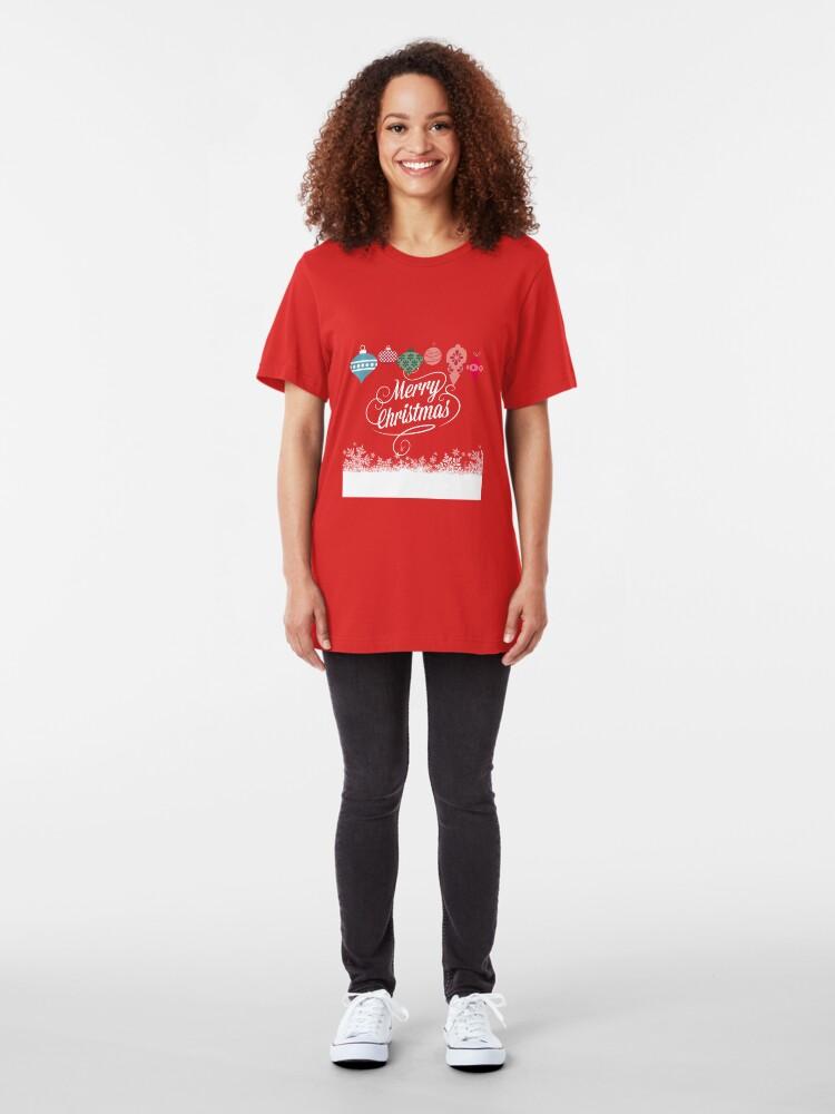 Alternative Ansicht von Merry Christmas  Slim Fit T-Shirt