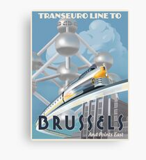 See Brussels and Europe by Rocket Train Canvas Print