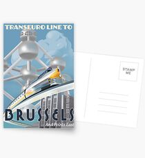 See Brussels and Europe by Rocket Train Postcards