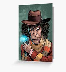 Dr Who Tom Baker Greeting Card