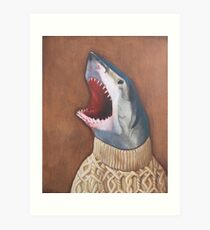 Shark in a Sweater Art Print