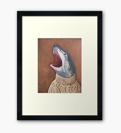 Shark in a Sweater Framed Print