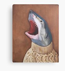 Shark in a Sweater Canvas Print