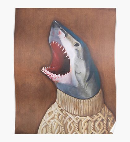 Shark in a Sweater Poster
