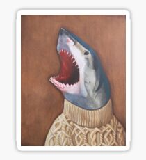 Shark in a Sweater Sticker