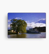 A stromy day at Lake Burley Griffin Canvas Print