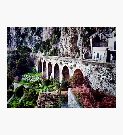 The Almalfi Coastal Road Photographic Print