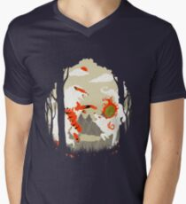 Great Wolves of Fire (Featured on Teefury) Men's V-Neck T-Shirt